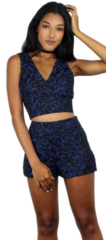 My Better Half Blue Print Two-Piece Set