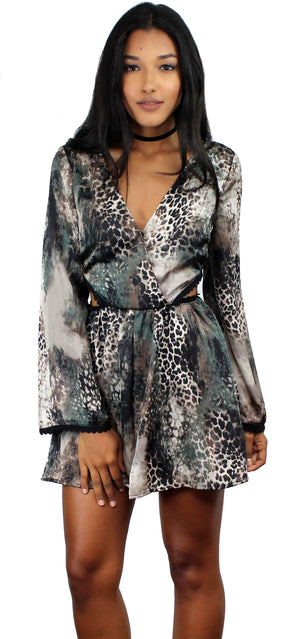 Anticipation Animal Print Romper