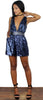 Plan for Party Navy Sequins Romper