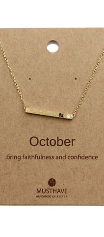 Which is your Bday Month? October Necklace
