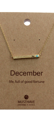 Which is your Bday Month? December Necklace