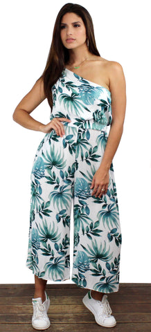 Sprout and About Palms One-Shoulder Jumpsuit