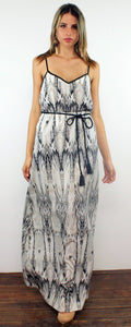 Intents and Purposes Grey Snake Print Maxi Dress