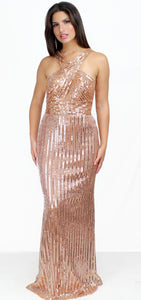 Dream About You Rose Gold Formal Gown