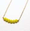 Make You Smile Yellow Stones Necklace