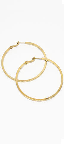 After Ego Gold Hoop Earrings