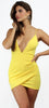 Confidence Boost Yellow Bodycon Dress