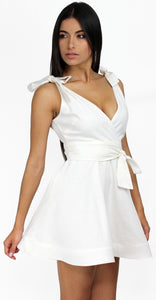 Positively Perfect White Fit & Flare Dress