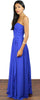 Reach Out Royal Blue Strapless Gown