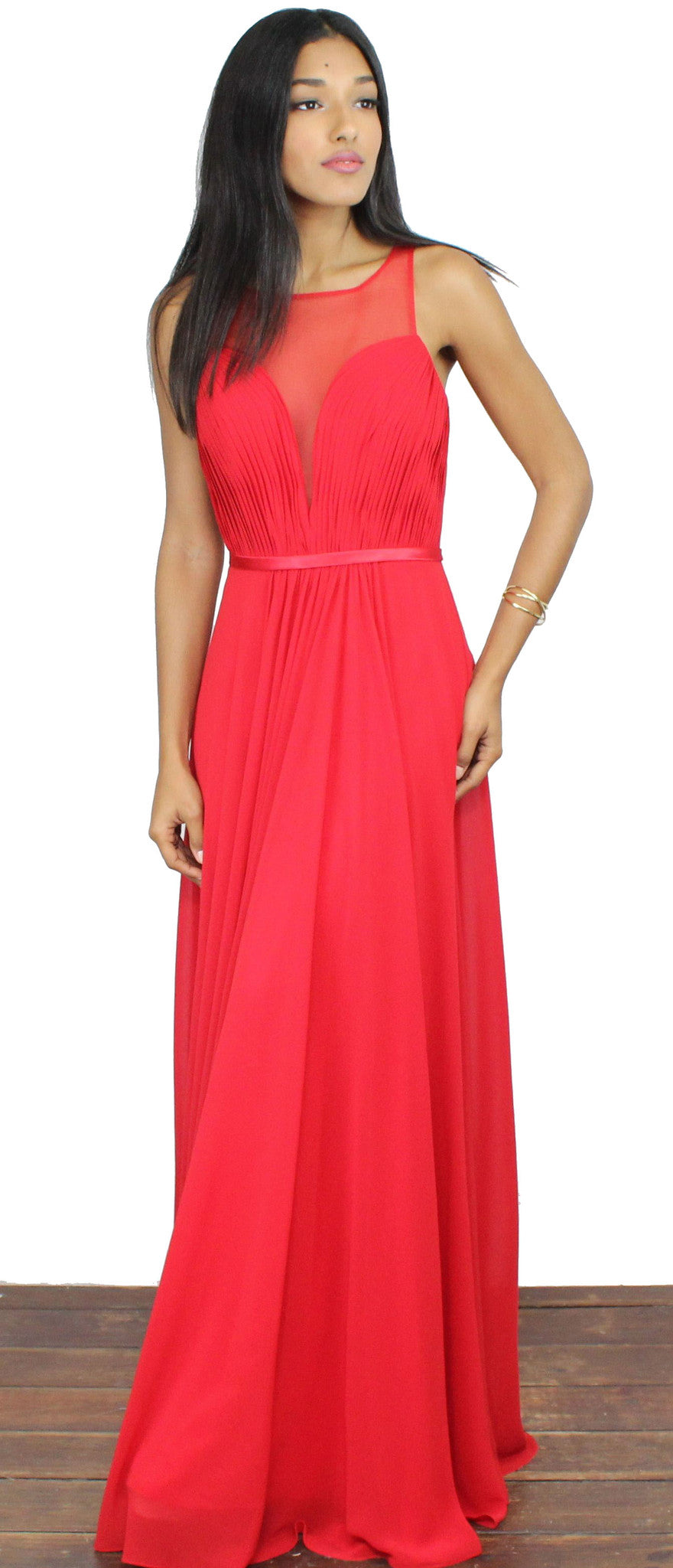 Looking Glass Red Draped Gown