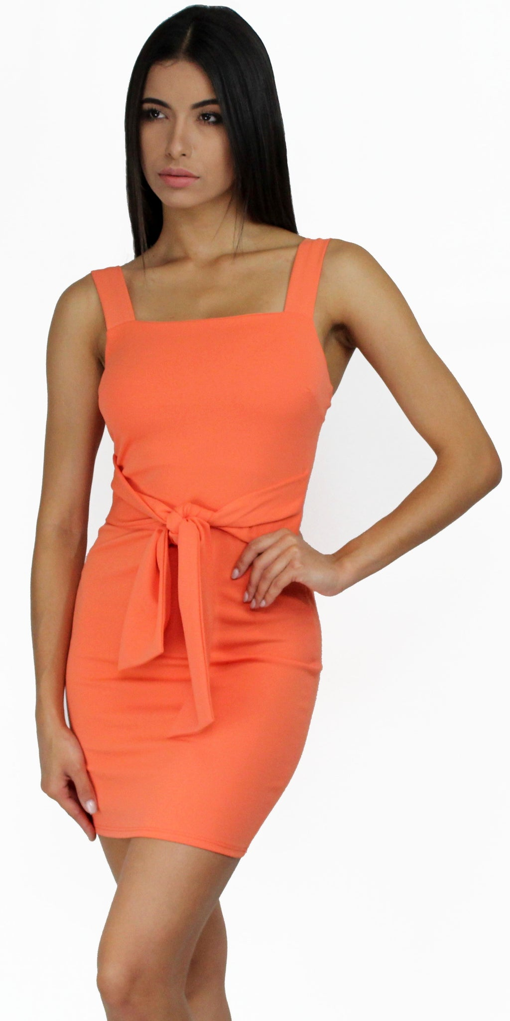 Don't Tell 'Em Orange Bodycon Dress