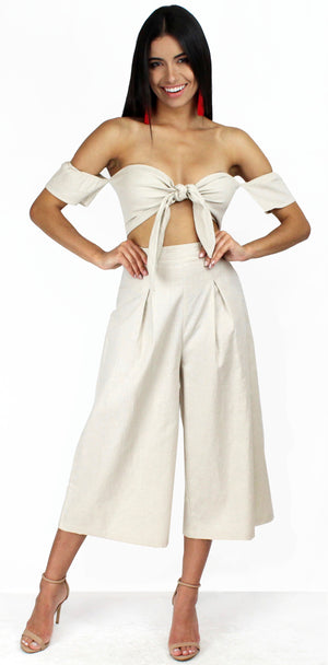Set the Standard Nude Culotte Two-Piece Set