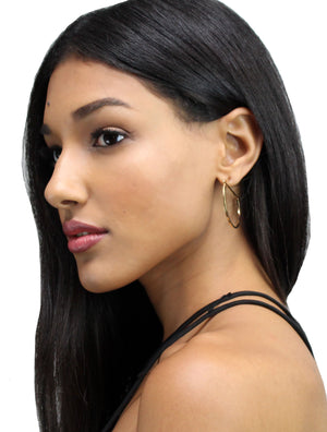 Head Start Gold Hoop Earrings