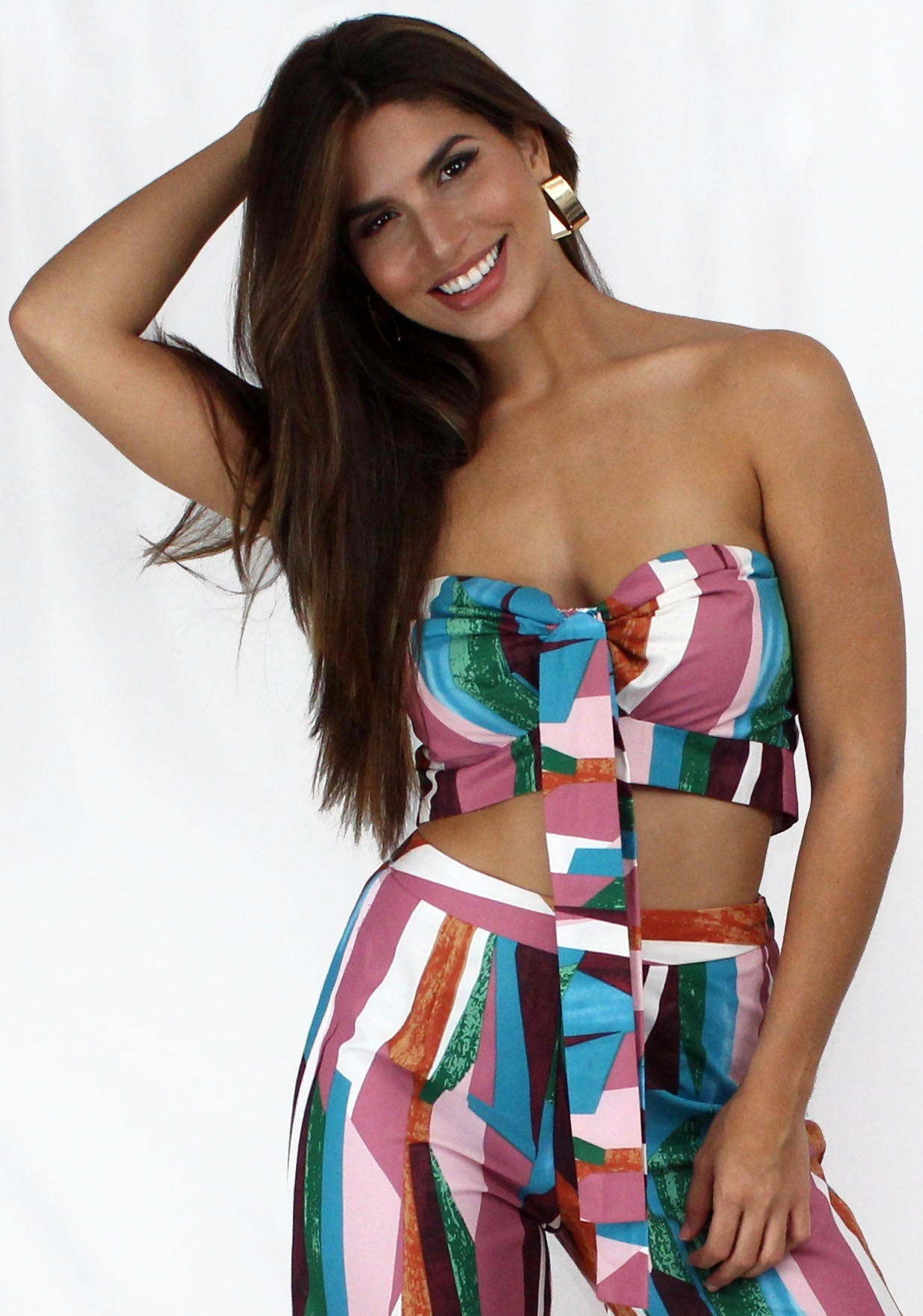 Feel the True Colors Print Two-Piece Set