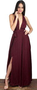 Give Me Amore Wine Multiway Maxi Dress
