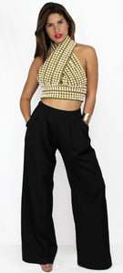 Luxe of My Life Palazzo Pants Two-Piece Set