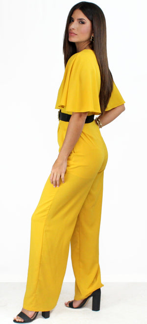Something to Behold Mustard Jumpsuit