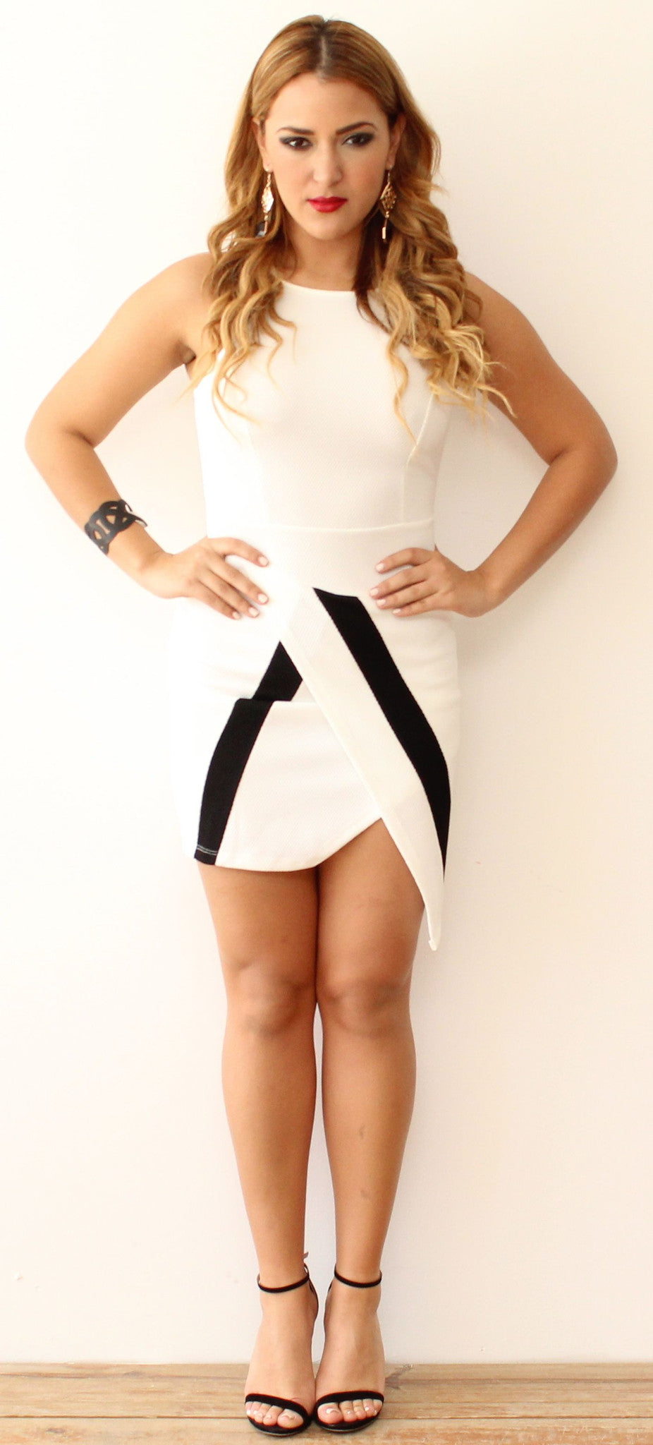 Be in White & Black at all Time Dress