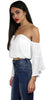 Must Have White OffShoulder Crop Top