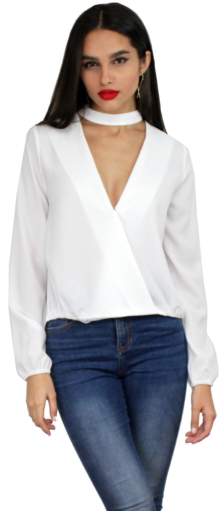 Rush Hour White Long Sleeves Top