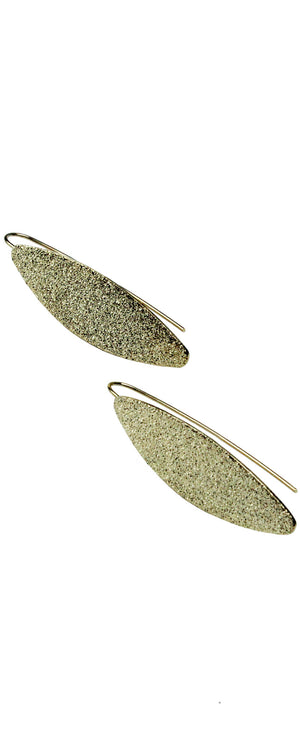 Building Blocks Oval Gold Earrings