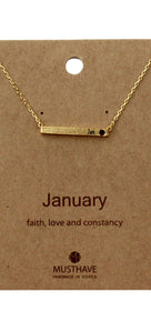 Which is your Bday Month? January Necklace