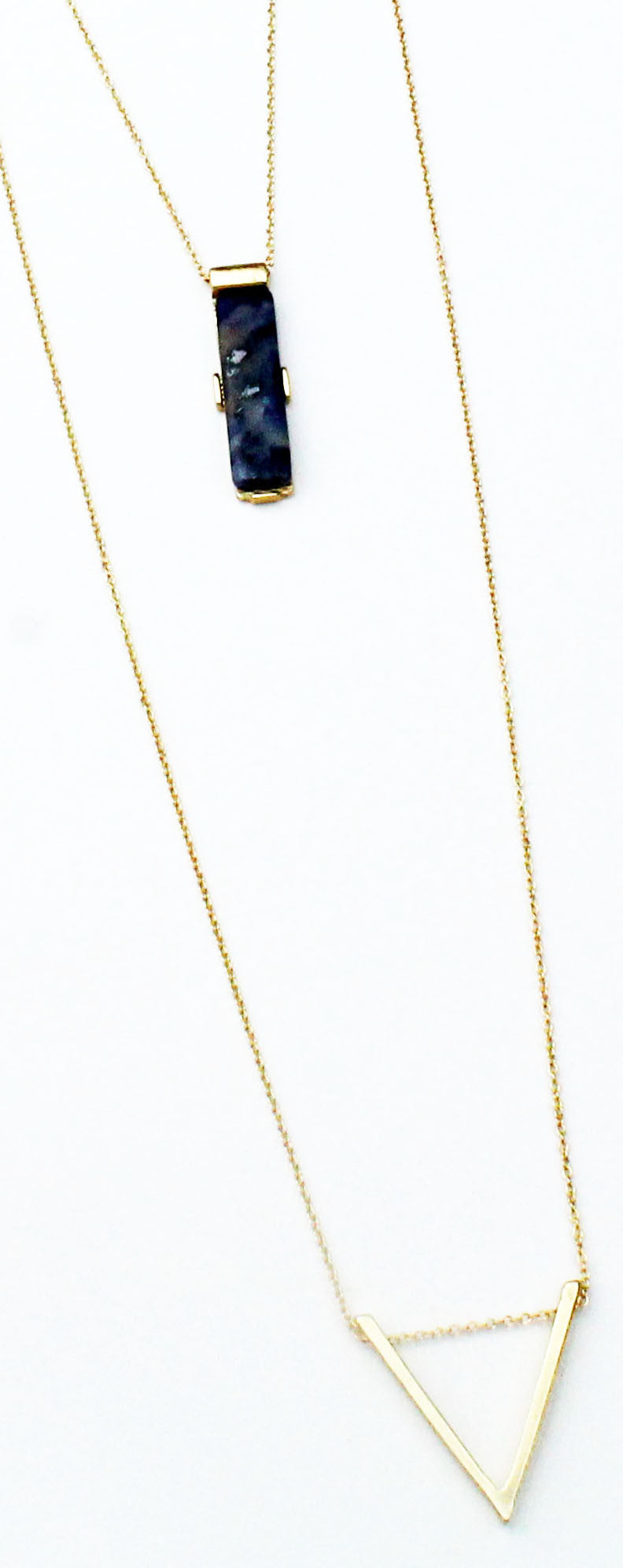 Sleek Peek Gold & Navy Layered Necklace
