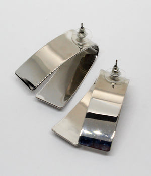 Treat Silver Statement Earrings