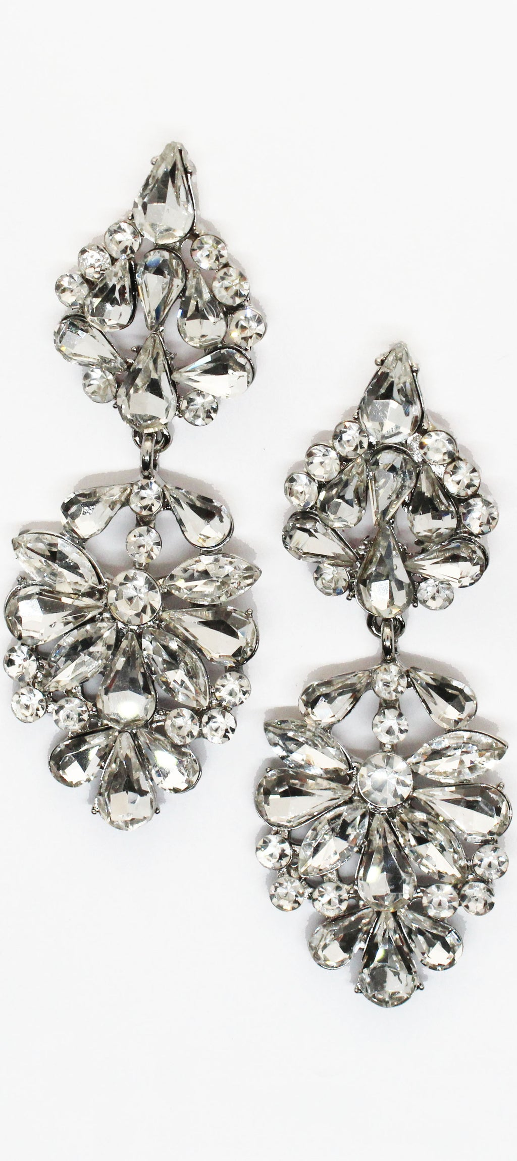 Bound to Wow Silver Rhinestones Earrings
