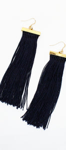 Royal Ways Navy Tassel Earrings