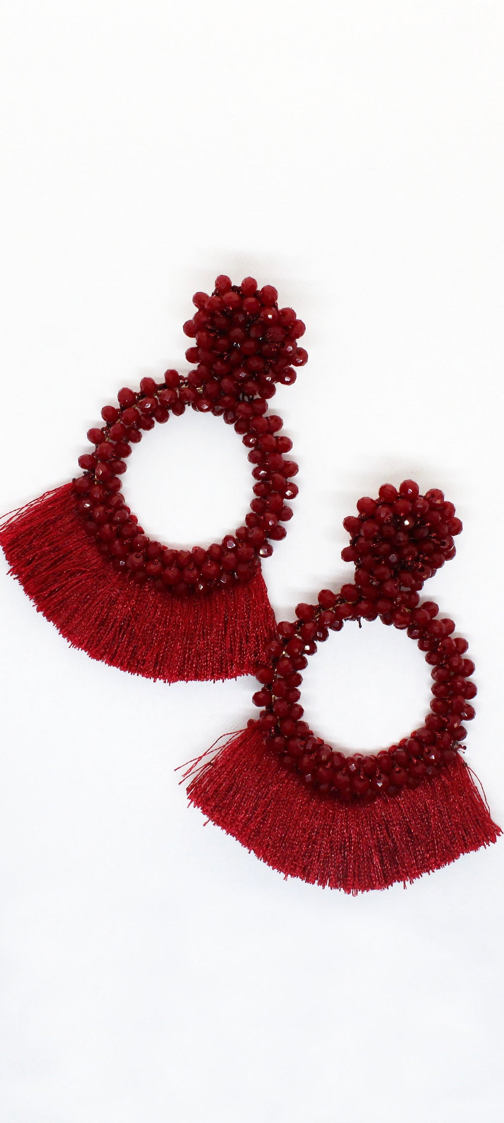 Taste the Berry and Tassels Love Earrings