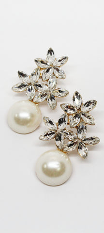Brightest Future Pearl & Rhinestones Earrings