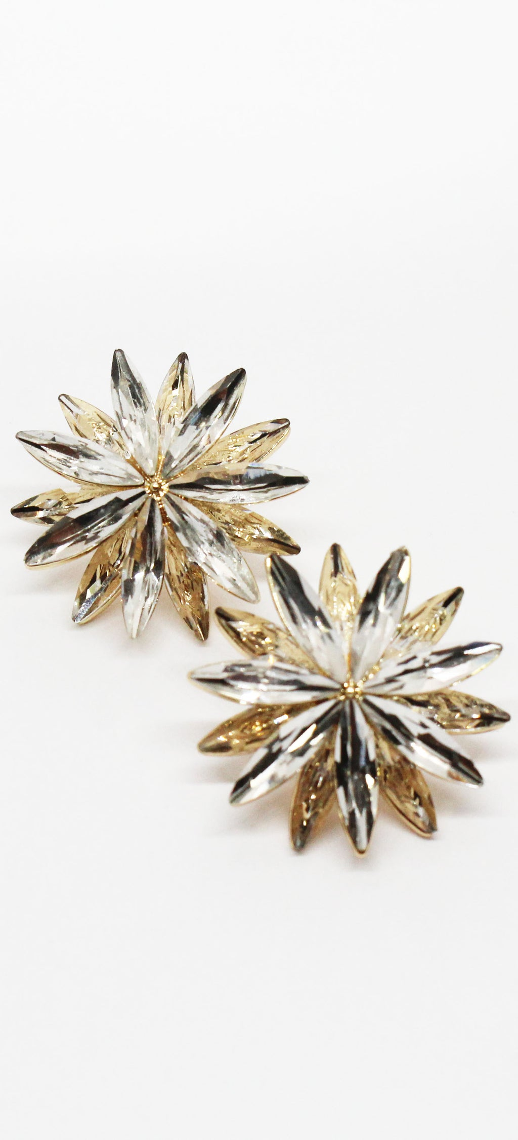 Total Opulence Gold Rhinestones Earrings