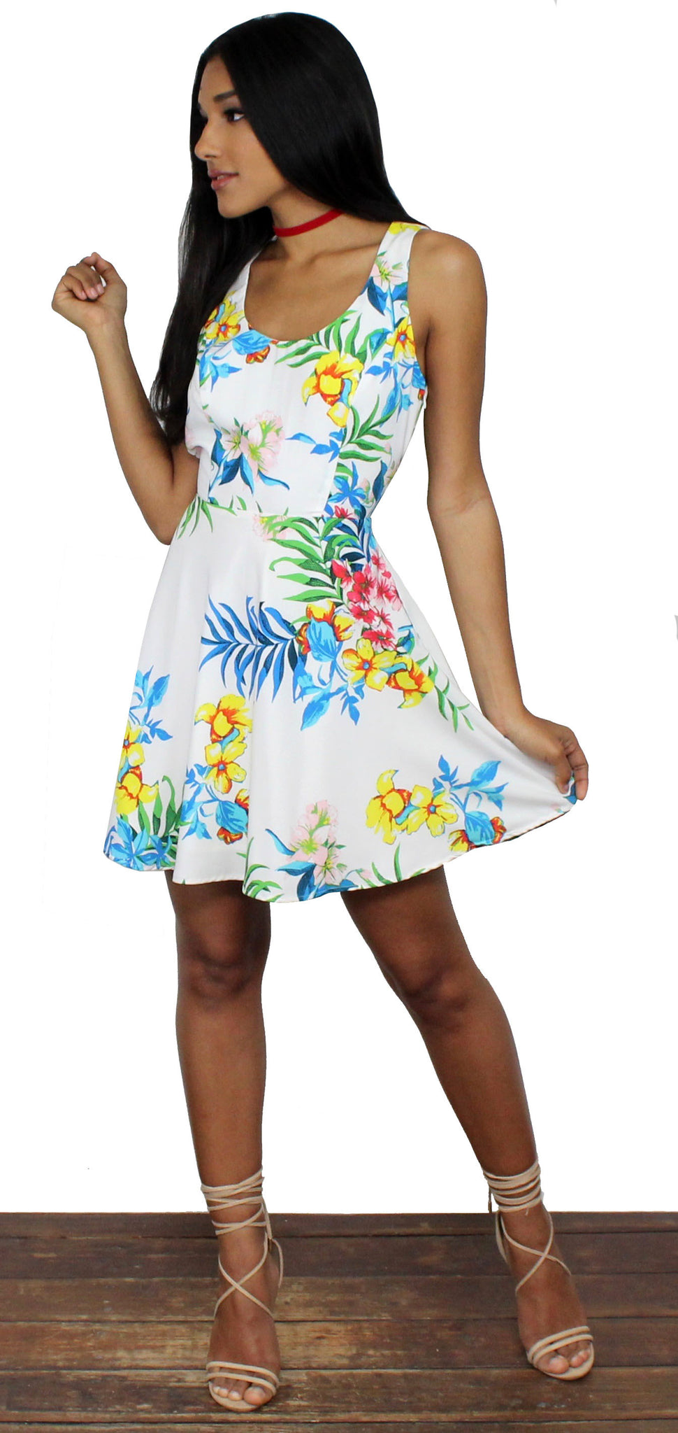 Undiscovered Island Floral Print Dress
