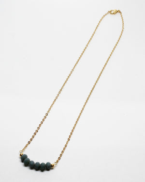 Make You Smile Grey Stones Necklace