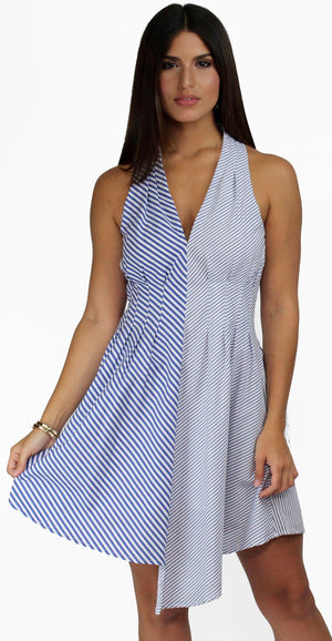 I'm the One Blue & White Striped Shift Dress