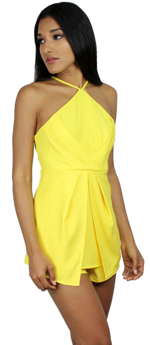 Got You On My Mind Yellow Romper