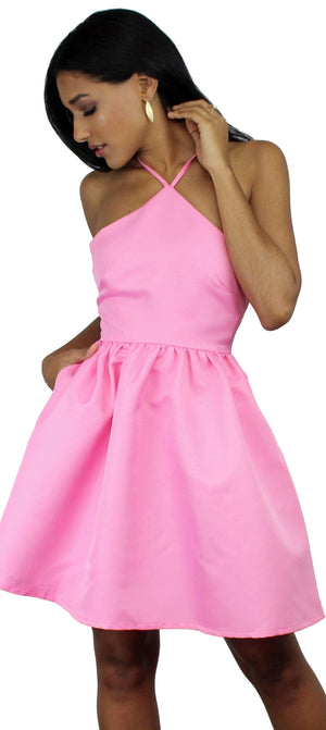 Call to Charms Pink Skater Dress
