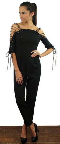 Tie Me Up Black Jumpsuit