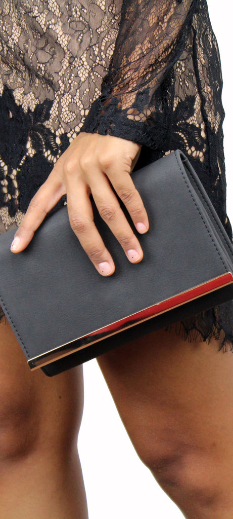 Only the Essentials Black Clutch