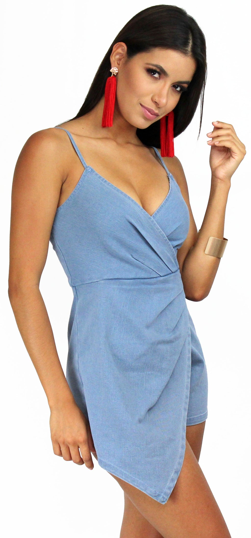 Sunlight Special Denim Asymmetrical Romper