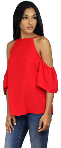I'm Yours Red Off-The-Shoulder Top