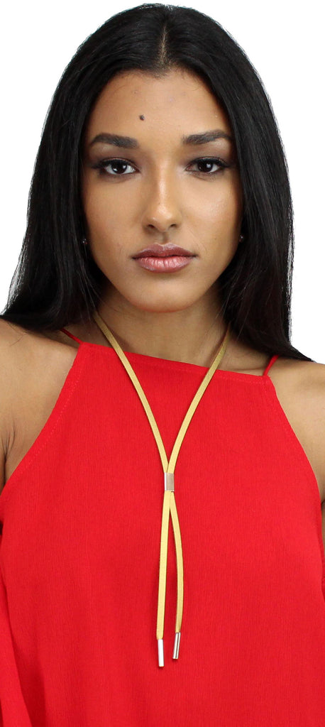 Bar and Away Gold Lariat Necklace