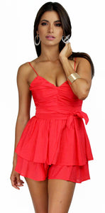 Feeling the Red in Red Fever Romper