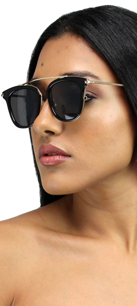Dawn Patrol Black & Gold Sunglasses