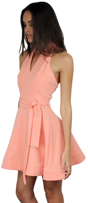 Loving You is Easy Peach Flare Dress