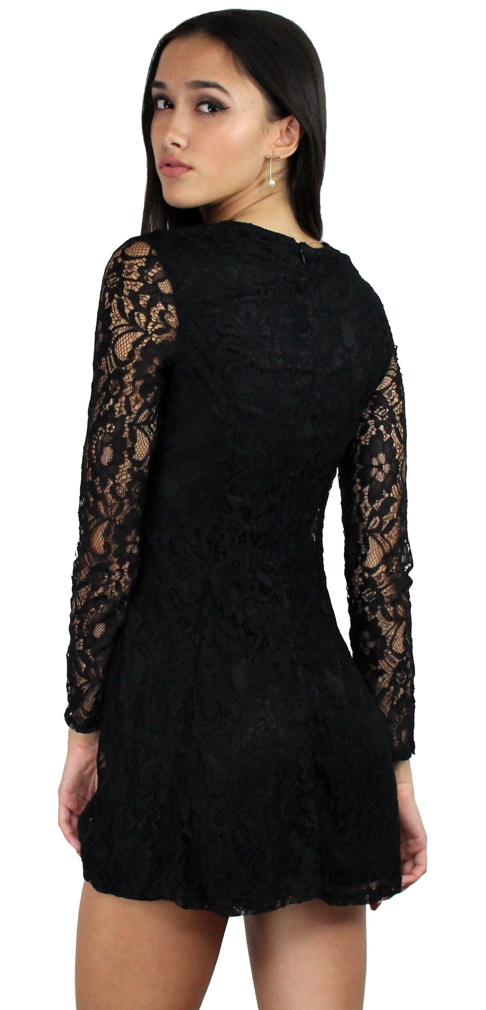 Sweeter Than Sugar Black Lace Dress