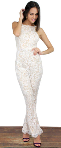 Remarkable White Lace Jumpsuit