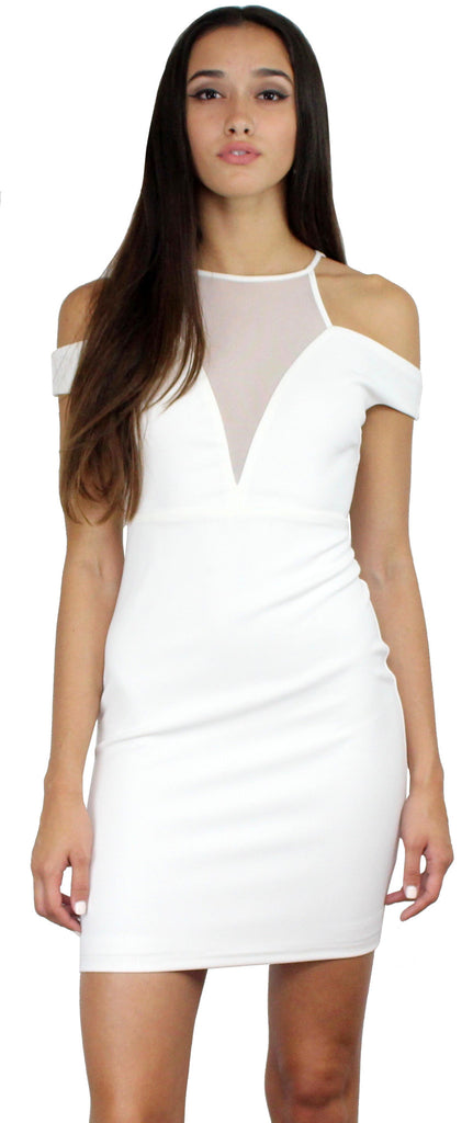 Quite Spectacular White Bodycon Dress
