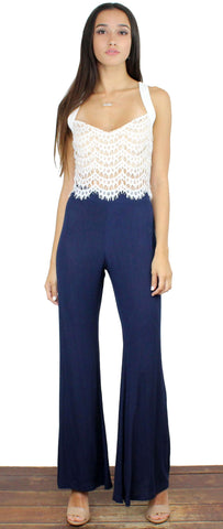 Local Jaunt Navy Wide-Leg Pants